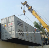 tipo Containerized gerador do cerco da potência Rated de 1500kVA 1200kw do diesel de Cummins
