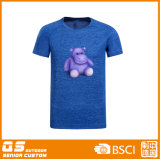 Camiseta de secado rápido de la manera de la impresión de la mezcla de los hombres