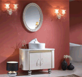 Gabinetes de banheiro da composição do metal de Hunging da parede do aço inoxidável (LZ-001)