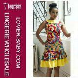 Sommer-Kleid-orange Kleid-Form-Dame Wear (L28018)
