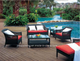 PEの藤の屋外の家具および籐椅子の屋外のソファー