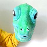 Masque costumé de carnaval de pleine de reptile de latex qualité principale de lézard