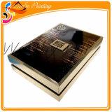 Rectángulo de regalo barato de encargo de empaquetado estampado de lujo hecho a mano de la cartulina del rectángulo de la alineada de boda de la hoja de oro