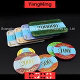Crown Bronzing Poker Chip com luz UV (YM-CP003-004)