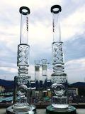 Tubulação de água de fumo de vidro das plataformas petrolíferas da SOLHA do ovo de Faberge do reciclador de Pyrex do Borosilicate