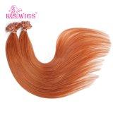 Capelli brasiliani del Virgin, estensione dei capelli umani di Remy del grado 6A
