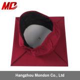 Chapeau mat adulte décoré de graduation avec le rouge foncé de vente en gros de gland