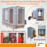 Automatisches Powder Spray Booth Recovery durch Filter für LPG Tank oder Fire Extinguisher