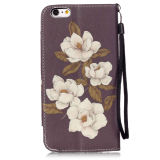 Begonie Flower PU Leather Fall Wallet Filp Cover für iPhone6 6s