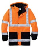 5 in 1 cappotto del parka di sicurezza, reso di Oxford impermeabile