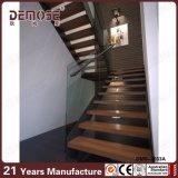 Zweiter Stock-klassische Bauholz-Treppe-Auslegung (DMS-2033)