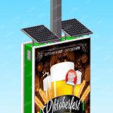 Casella chiara di pubblicità Backlit d'acciaio a energia solare