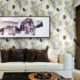 Papel de parede luxuoso do cenário de papel não tecido bonito para a decoração do quarto