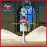 Weihnachtsmann Inside White Christmas Street Lamp mit LED