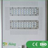 Fabricante 50W todo de China en una luz de calle solar integrada del LED con el sensor de movimiento
