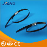 Aço inoxidável Epoxy Coated Cable Tie-Ball Self-Lock