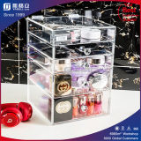 中国のアクリルの構成のオルガナイザーのアクリルの構成の収納箱はとの引く