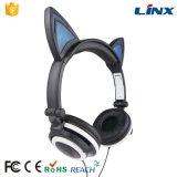 携帯電話のための新しく熱い販売のパテントデザイン白熱猫耳のヘッドホーン