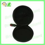 Schwarzer runder Reißverschluss-Kopfhörer-Speicher-harter Fall (016)