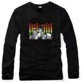 음악에 의하여 활성화되는 EL t-셔츠