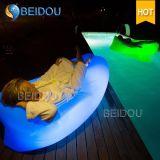 LEDによってつけられる正方形の不精なソファーの膨脹可能な空気ベッドの寝袋