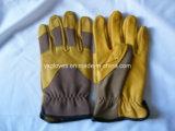 Желтая кожаный кожа Перчатк-Зерна Перчатк-Промышленная Перчатк-Работает Перчатк-Перчатки