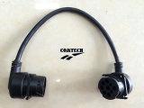 Connecteur mâle de J1939 90 Degress Allemand 9p aux câbles de connecteur mâle