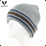 Winter Stripe Knitted Beanie degli uomini con Fleece Lining