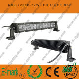 72W, 13inch DEL Work Light, éclairage LED Bar de 24PCS*3W Creee pour Trucks