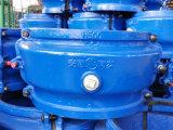 أصلحت مشبك, إصلاح طوق, عمليّة كبسلة طوق, ينقسم طوق لأنّ حنفية إلى مقبس تجويف حديد أنابيب [ه500] لون زرقاء, [أن-لين] تسرّب إصلاح