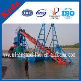 Tipo barco del compartimiento de la draga de la arena de la succión del oro para la venta
