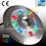 Roestvrij staal 9W RGB LED Fountain Ring Light (JP94293)