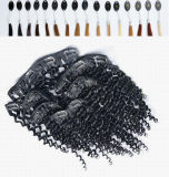 Hair non trattato Extension Clip in 180g Kinky Curly