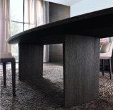 Table de repas en marbre naturel haute qualité 2016 avec pied en bois (DT013)