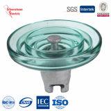 IEC endurecido 80kn do isolador de vidro do disco da suspensão U160