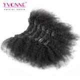 Clip rizado del Afro en pelo humano de las extensiones del pelo