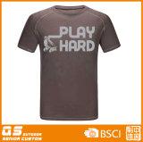 T-shirt seco rápido do esporte da forma dos homens