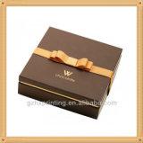 Коробка картона подарка косметики упаковывая бумажная с тесемкой