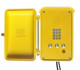Teléfono de emergencia Conjunto KNSP-03 Manos libres impermeable al aire libre Teléfono