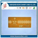 Cartão plástico do membro do PVC da forma especial anormal