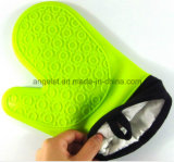 Gant court de four de silicones avec le tissu de coton Sg05