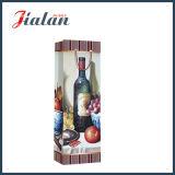 bolsa de papel laminada brillante del regalo de la botella de vino del papel de arte 128GSM