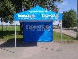 3X3 che fa pubblicità alla tenda piegante esterna