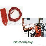 De regelbare Uitsluiting van de Kabel van het Roestvrij staal die met het Hangslot van de Veiligheid wordt gebruikt