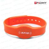 Genii poco costosi Silicone Wristband di Color Filled Wristbands Ntag213 per Arenas