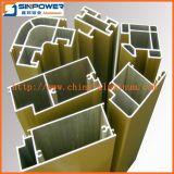 外部プロフィール、アルミニウム引き戸のプロフィールのための様式の木アルミニウムドア
