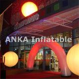 Tela inflável do nylon do arco da iluminação do diodo emissor de luz da decoração do casamento