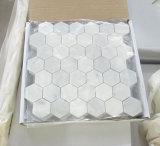 Mosaico di marmo bianco di marmo delle mattonelle di mosaico