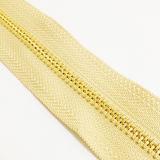 Металл #5 Zippers латунь золота