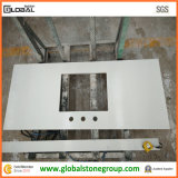 Vanità bianca artificiale del quarzo per la stanza da bagno di pietra/architetto arredatore